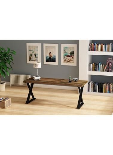 Woodesk Rıhtım Masif Ceviz Renk 200x80 Yemek Masası CPT7313-200 Kahve